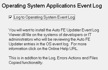 OS Application Event Log