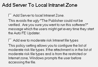 Add Server to local Intranet Zone
