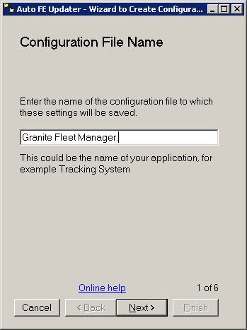 Wizard - Configureation file name