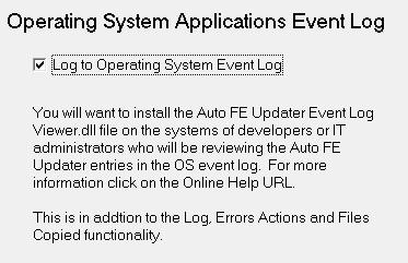 Auto FE Updater - Settings - Enterprise Edition - OS